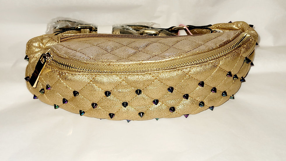 Gold Studded Fanny Pack