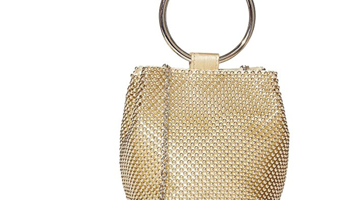 Mesh Ring Wristlet Bag - Gold