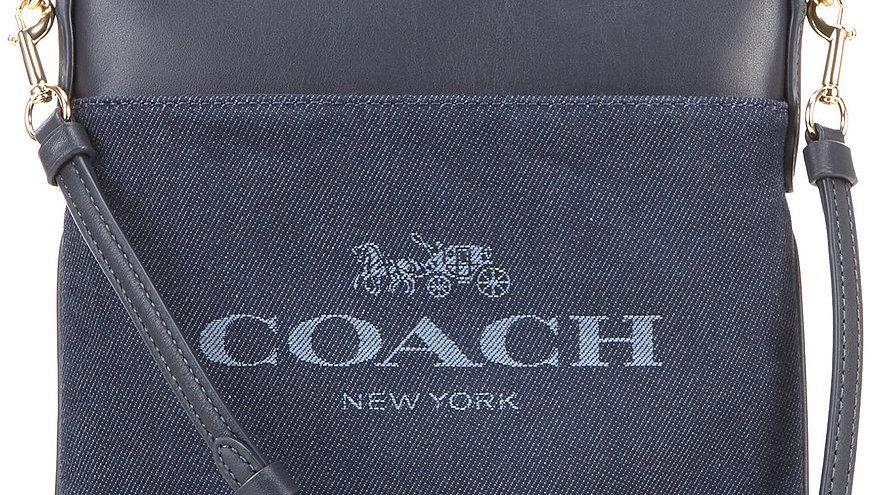 Coach Denim Jacquard Crossbody