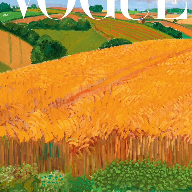 Vogue August 2020 David Hockney Cover (1