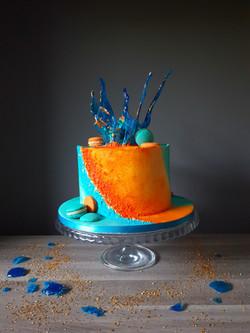Blue and Orange texture