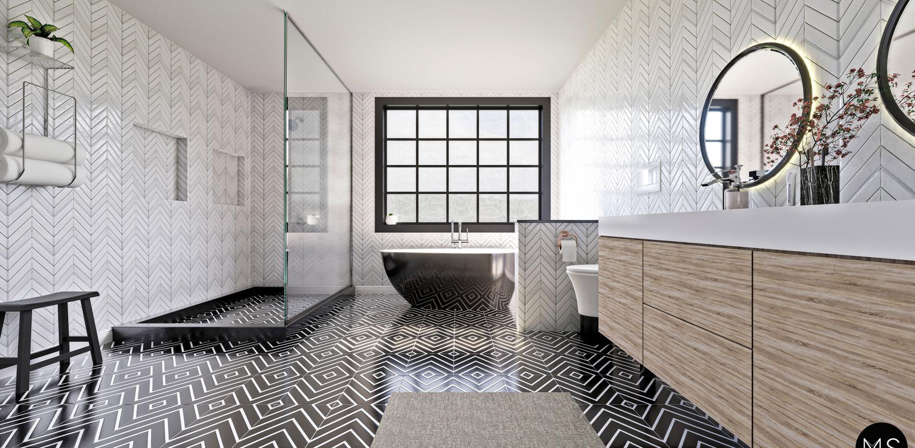 Scandinavian bathroom design