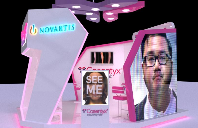 Novartes medicine booth campaign