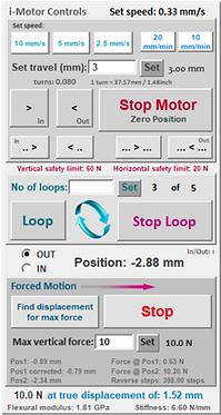 i-Motor control panel