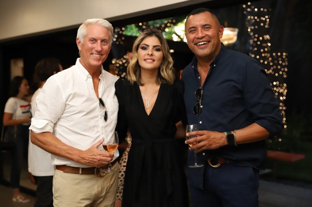 Doug Rice, Ana Karolina and Anderson Santos