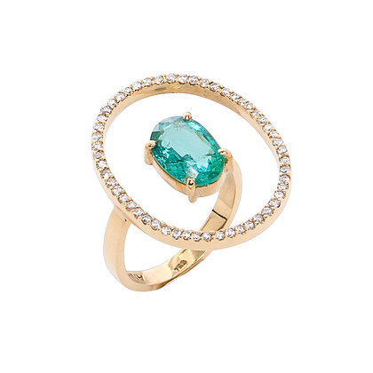 Anel flutuante oval I Oval floating ring