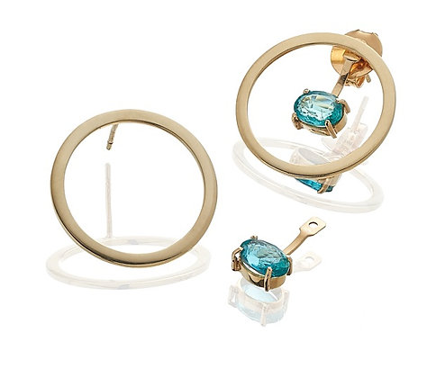 Brinco redondo flutuante I Floating Round earring
