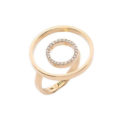 Anel flutuante redondo I Round floating ring
