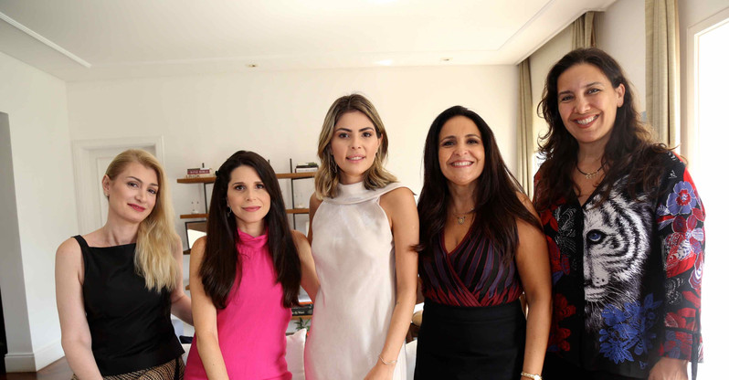 Rachel Polito, Fabi Saad, Ana Karolina, Alice Coutinho e Roberta Bigucci