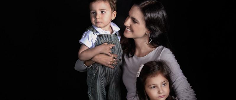 Eleonora Monteiro e seus filhos