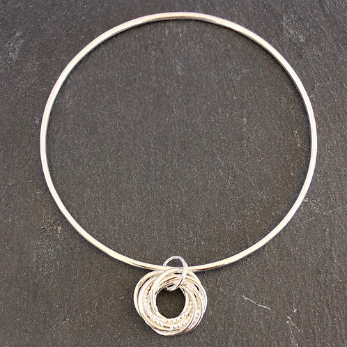 Promises - Bangle with Beaded Charm