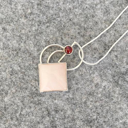 Rose Quartz and Garnet Pendant