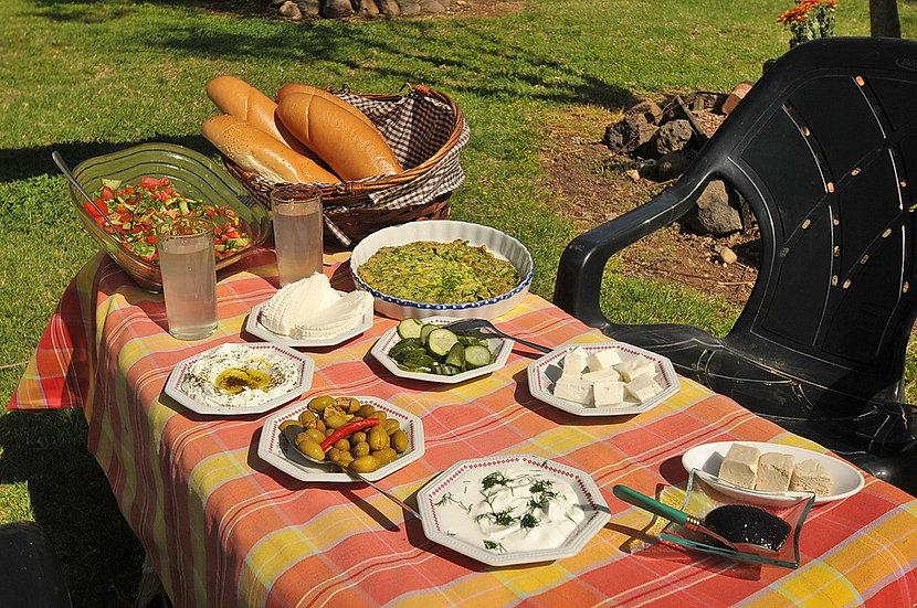 A delicious Israeli Breakfast