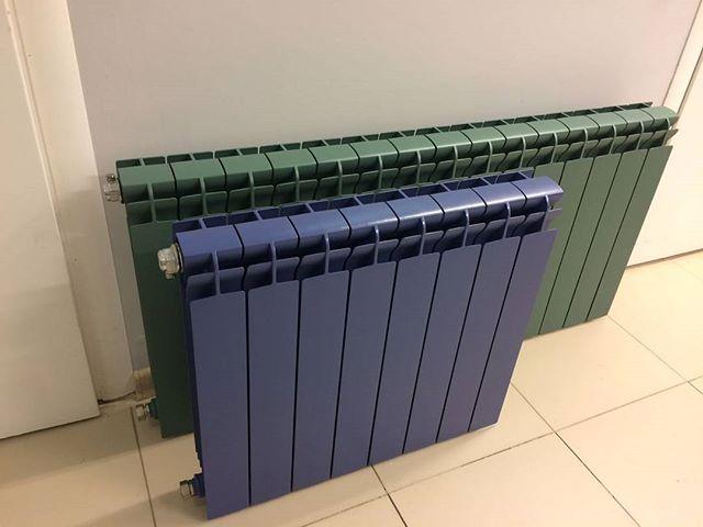 Окраска радиаторов в различные цвета