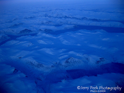 Arctic ice from above