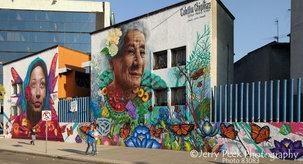 Mural near north end of Paseo de la Reforma, CDMX (Mexico City)