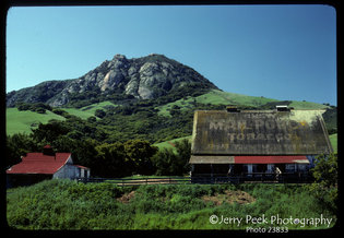From California highway 1, west of San Luis Obispo