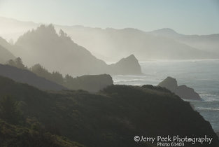 Pacific coast from US highway 101, milepost 314.7, Oregon