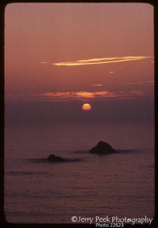 Sunset from California Highway 1 north of San Simeon