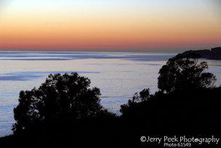 Sunset from US highway 101, 27 miles n. of Santa Barbara, CA