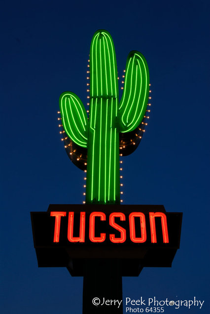 North side of Miracle Mile/Tucson neon sign, near 1500 N. Oracle