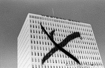 "Western Bank ""Xed out"", Albuquerque, NM, 1976"