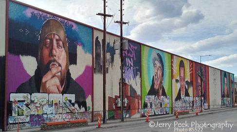Murals along Brighton Blvd near RiNo arts district, Denver, CO