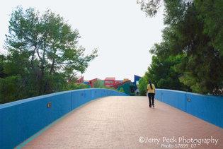 Garces Footbridge, La Placita in background