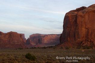 Monument Valley near sunset