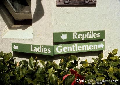 Segregated restrooms in Bermuda