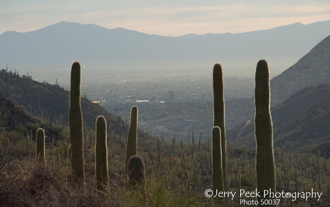 Tucson from Gates Pass near sunrise