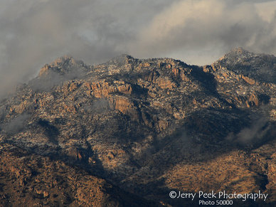 Snow on Santa Catalina Mountains, Tucson