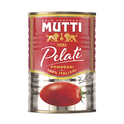 Lata Tomate Pelati Mutti x 400 grs.