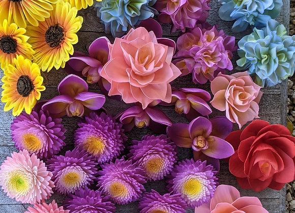 Airbrushing Wood Flowers Tutorial Group