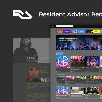 RA Desktop Website Redesign