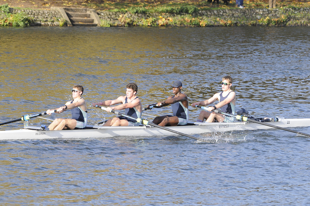 Etn-Burgess-Watson on the way to winning the J18 4+ catagory