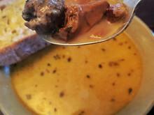 Wild mushroom & sausage soup