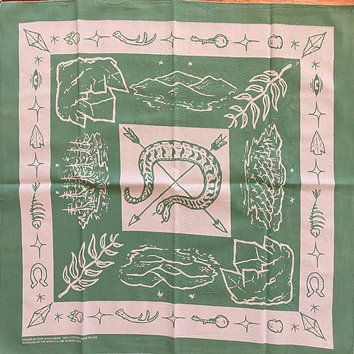 August 2020 bandana designed by Nick Shoulders