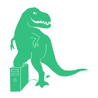 Dino with Desktop Computer Boot