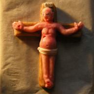 Marzipan Plumber Crucified
