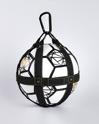 Ball holder - Dark Denim / Black leather
