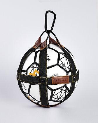 Ball holder - Dark Denim / Brown leather