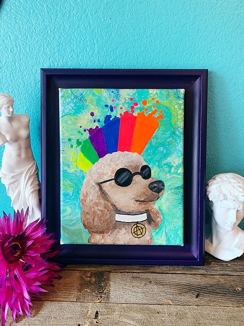 Custom Pop Art Pet Portrait Acrylic Painting on Canvas
