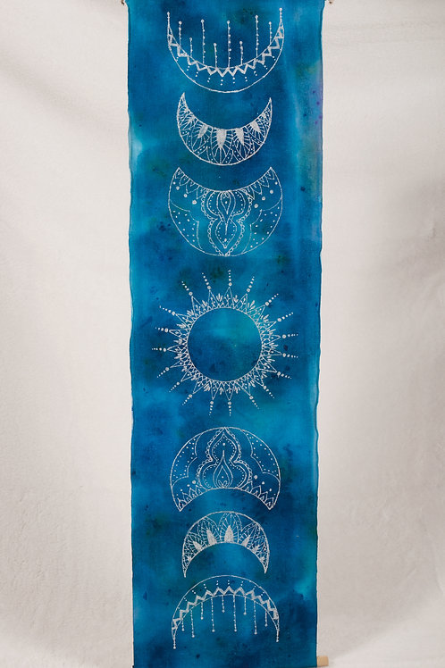 Moonphase watercolor banner