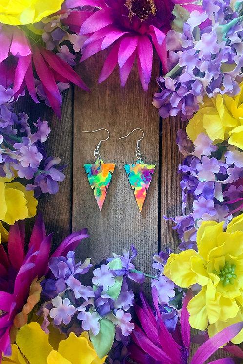 Triangle Arrow Wooden Earrings