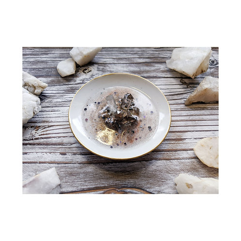 Smoky Quartz Ceramic Ring Dish