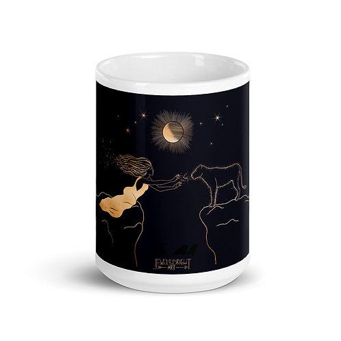 """""""Reclaim Your Magic"""" White glossy mug"""