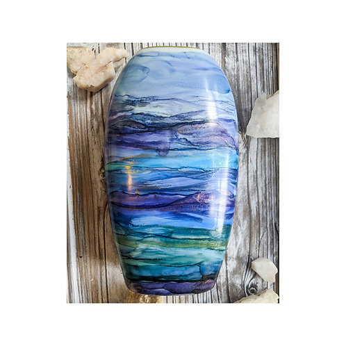Large Hand Painted Ceramic Vase