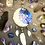 Thumbnail: Mini Mooncatcher Clay and Ink Sculpture with Gemstones