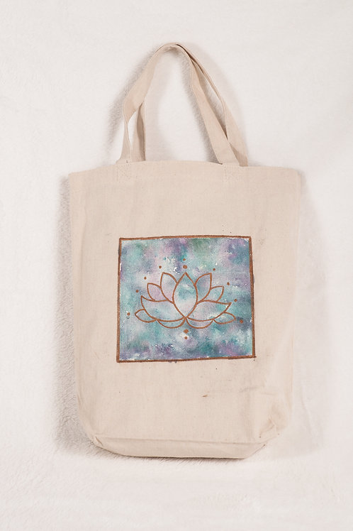 Hand painted canvas tote bag in multiple styles